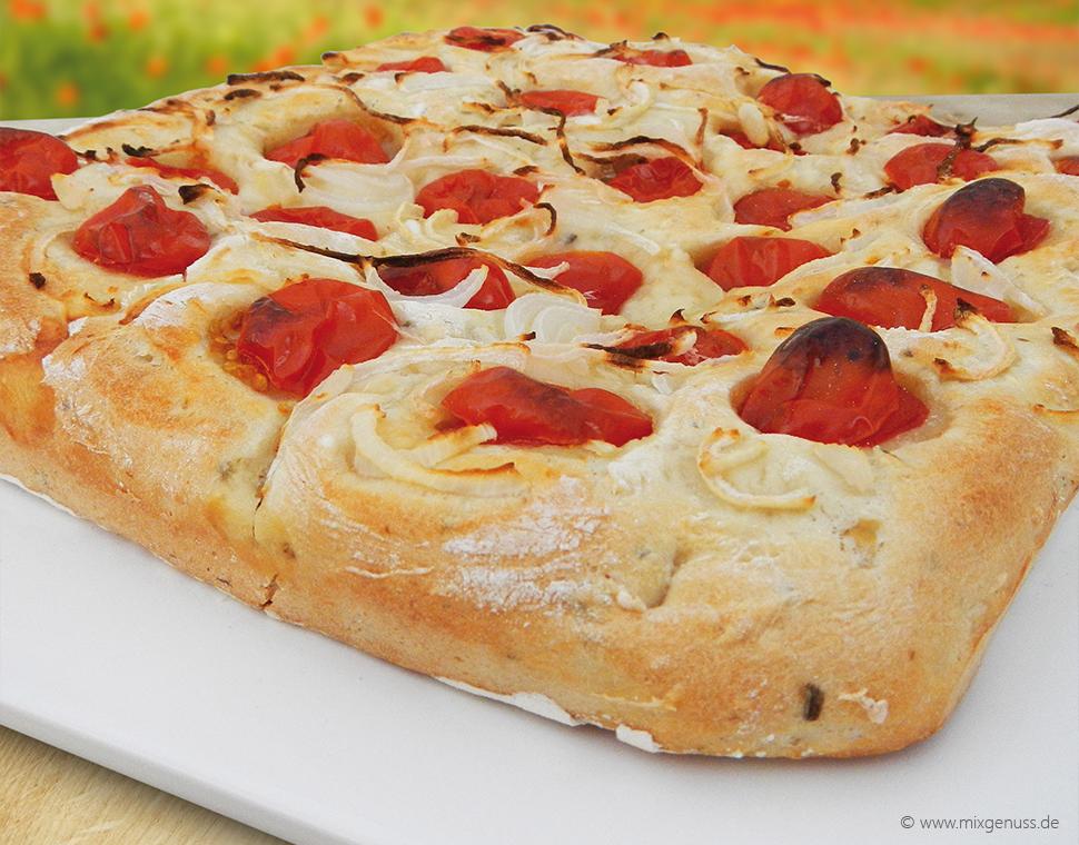 Apfel-Tomaten-Focaccia