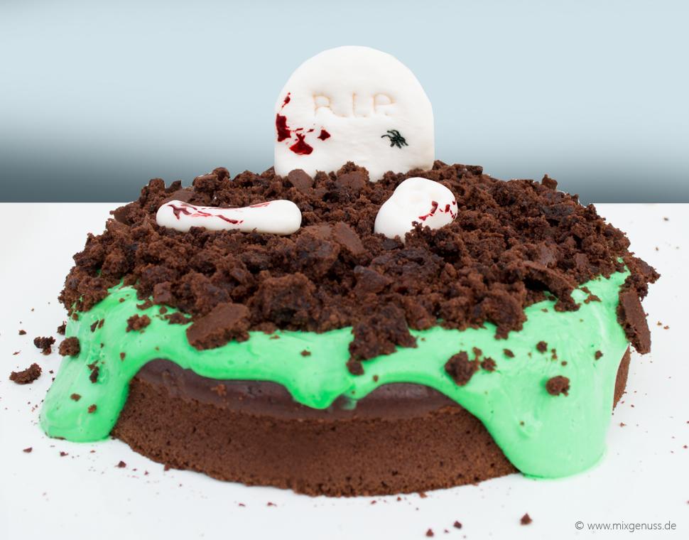 Halloween: Grabstein-Kuchen