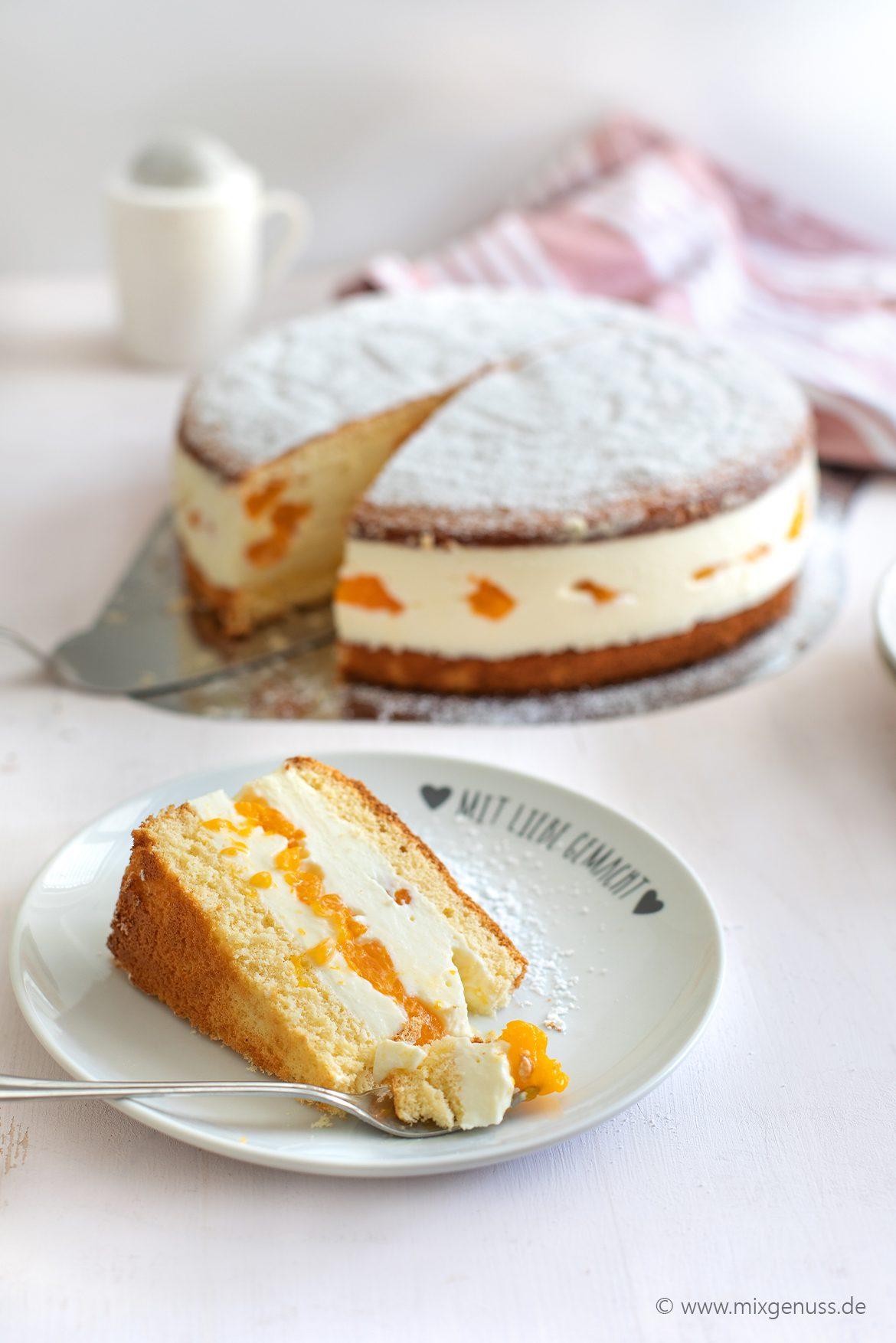 Klassische Käse Sahne Torte