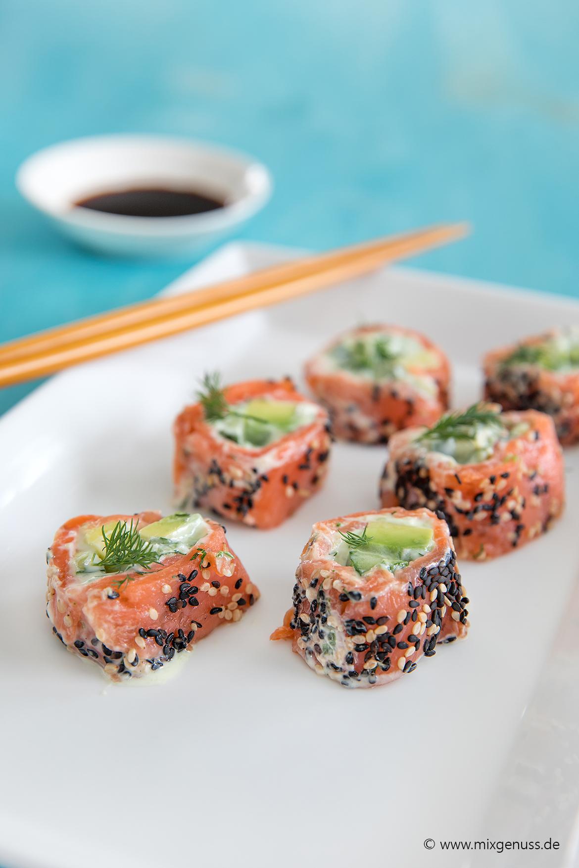 Leichtes Lachs-Sushi