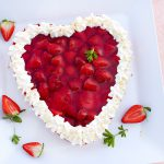 Erdbeer-Herzkuchen