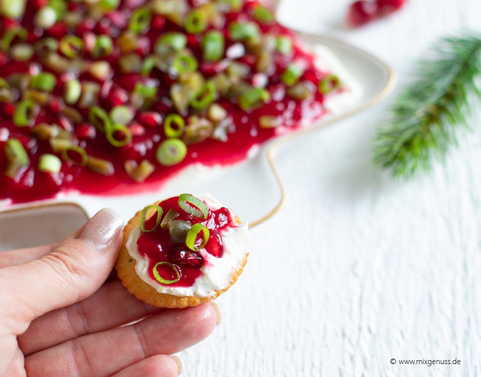 Weihnachtlicher Cranberrydip