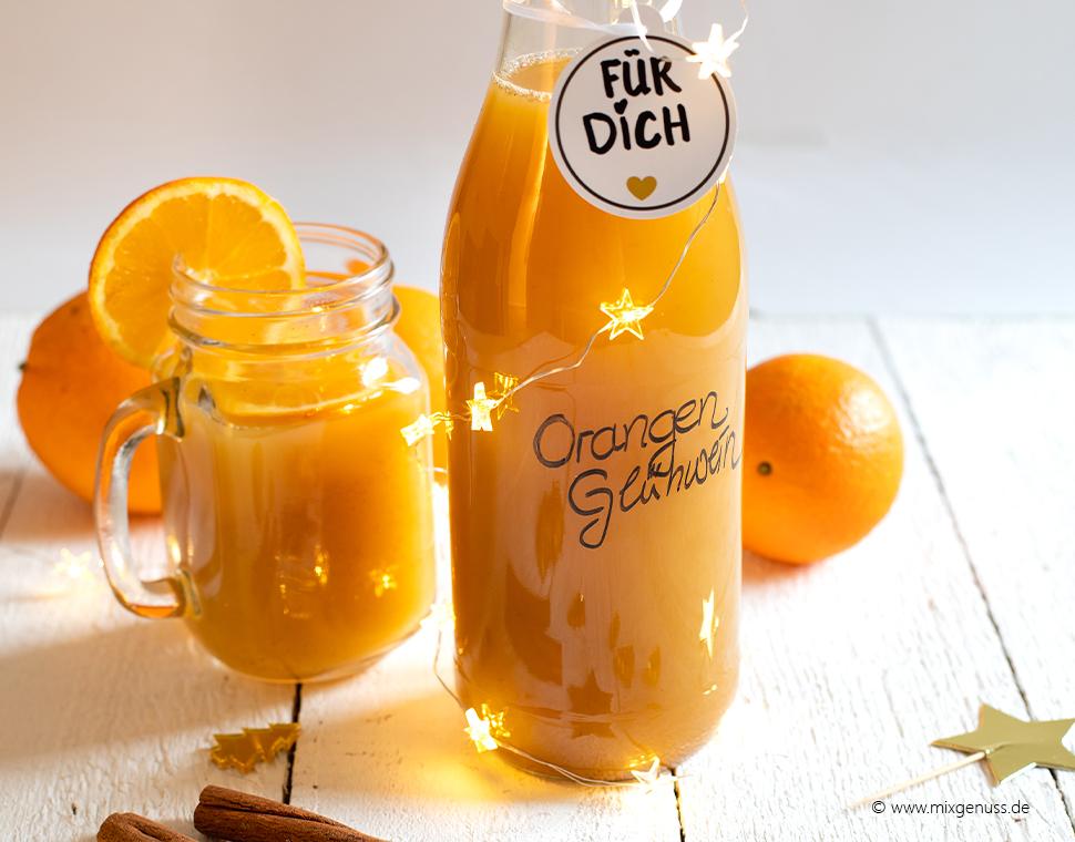 Orangen-Glühwein mit Ingwer & Zimt